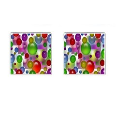 Colored Bubbles Squares Background Cufflinks (square) by Nexatart