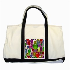 Colored Bubbles Squares Background Two Tone Tote Bag by Nexatart