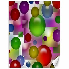 Colored Bubbles Squares Background Canvas 12  x 16