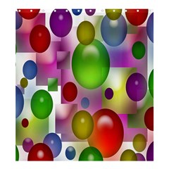 Colored Bubbles Squares Background Shower Curtain 66  X 72  (large)  by Nexatart