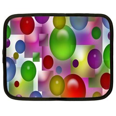 Colored Bubbles Squares Background Netbook Case (xxl)  by Nexatart