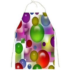 Colored Bubbles Squares Background Full Print Aprons