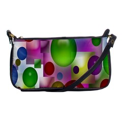 Colored Bubbles Squares Background Shoulder Clutch Bags by Nexatart