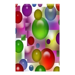 Colored Bubbles Squares Background Shower Curtain 48  X 72  (small)