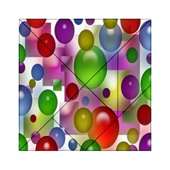 Colored Bubbles Squares Background Acrylic Tangram Puzzle (6  X 6 )