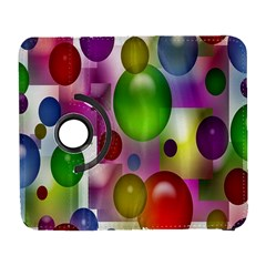 Colored Bubbles Squares Background Galaxy S3 (flip/folio) by Nexatart