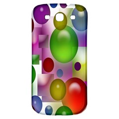 Colored Bubbles Squares Background Samsung Galaxy S3 S Iii Classic Hardshell Back Case by Nexatart