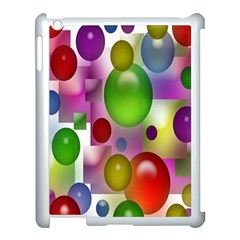 Colored Bubbles Squares Background Apple Ipad 3/4 Case (white) by Nexatart