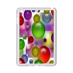 Colored Bubbles Squares Background Ipad Mini 2 Enamel Coated Cases