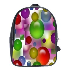 Colored Bubbles Squares Background School Bags (xl)  by Nexatart