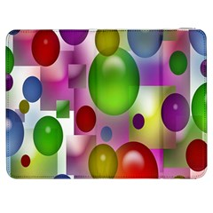 Colored Bubbles Squares Background Samsung Galaxy Tab 7  P1000 Flip Case