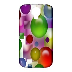 Colored Bubbles Squares Background Samsung Galaxy S4 Classic Hardshell Case (pc+silicone)