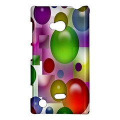 Colored Bubbles Squares Background Nokia Lumia 720 by Nexatart