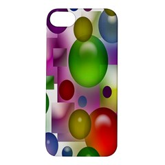 Colored Bubbles Squares Background Apple Iphone 5s/ Se Hardshell Case