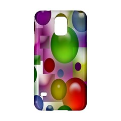 Colored Bubbles Squares Background Samsung Galaxy S5 Hardshell Case  by Nexatart