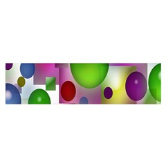 Colored Bubbles Squares Background Satin Scarf (oblong) by Nexatart