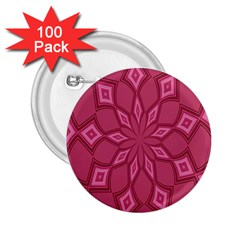 Fusia Abstract Background Element Diamonds 2.25  Buttons (100 pack)  by Nexatart