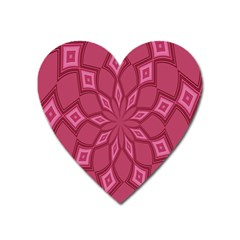 Fusia Abstract Background Element Diamonds Heart Magnet by Nexatart