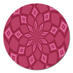 Fusia Abstract Background Element Diamonds Magnet 5  (round)