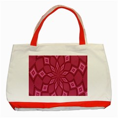 Fusia Abstract Background Element Diamonds Classic Tote Bag (red)