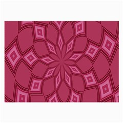 Fusia Abstract Background Element Diamonds Large Glasses Cloth (2 Side) by Nexatart
