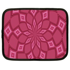 Fusia Abstract Background Element Diamonds Netbook Case (large)