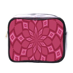 Fusia Abstract Background Element Diamonds Mini Toiletries Bags by Nexatart