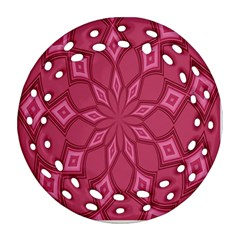 Fusia Abstract Background Element Diamonds Round Filigree Ornament (two Sides) by Nexatart