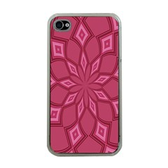 Fusia Abstract Background Element Diamonds Apple Iphone 4 Case (clear)