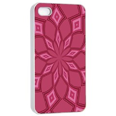 Fusia Abstract Background Element Diamonds Apple Iphone 4/4s Seamless Case (white)