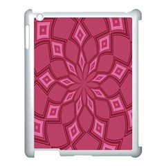 Fusia Abstract Background Element Diamonds Apple Ipad 3/4 Case (white) by Nexatart