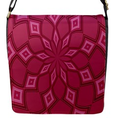 Fusia Abstract Background Element Diamonds Flap Messenger Bag (s)