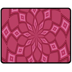 Fusia Abstract Background Element Diamonds Double Sided Fleece Blanket (medium)