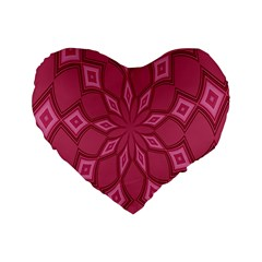Fusia Abstract Background Element Diamonds Standard 16  Premium Flano Heart Shape Cushions by Nexatart
