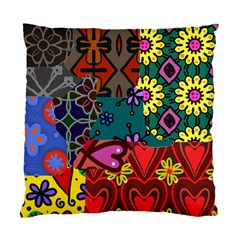 Digitally Created Abstract Patchwork Collage Pattern Standard Cushion Case (one Side) by Nexatart