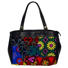 Digitally Created Abstract Patchwork Collage Pattern Office Handbags by Nexatart