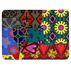 Digitally Created Abstract Patchwork Collage Pattern Samsung Galaxy Tab 7  P1000 Flip Case by Nexatart