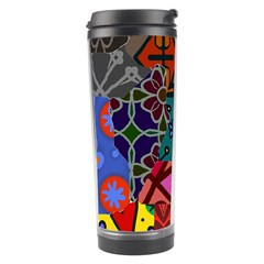 Digitally Created Abstract Patchwork Collage Pattern Travel Tumbler by Nexatart