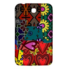 Digitally Created Abstract Patchwork Collage Pattern Samsung Galaxy Tab 3 (7 ) P3200 Hardshell Case  by Nexatart