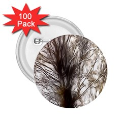 Tree Art Artistic Tree Abstract Background 2.25  Buttons (100 pack)  by Nexatart