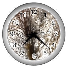Tree Art Artistic Tree Abstract Background Wall Clocks (silver)  by Nexatart