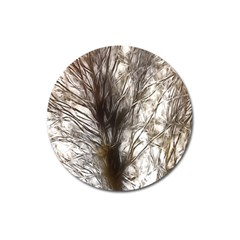 Tree Art Artistic Tree Abstract Background Magnet 3  (round)