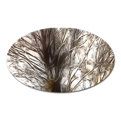Tree Art Artistic Tree Abstract Background Oval Magnet by Nexatart
