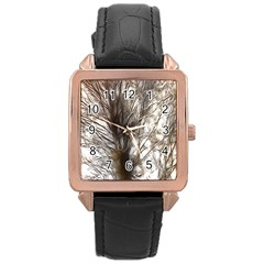 Tree Art Artistic Tree Abstract Background Rose Gold Leather Watch