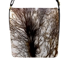 Tree Art Artistic Tree Abstract Background Flap Messenger Bag (l)  by Nexatart