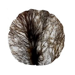 Tree Art Artistic Tree Abstract Background Standard 15  Premium Flano Round Cushions by Nexatart