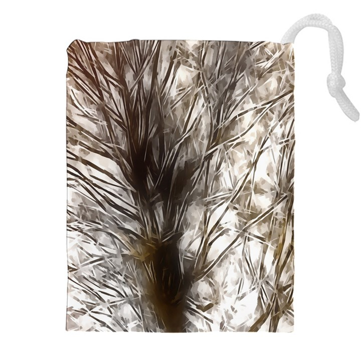 Tree Art Artistic Tree Abstract Background Drawstring Pouches (XXL)