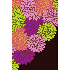 Floral Card Template Bright Colorful Dahlia Flowers Pattern Background 5 5  X 8 5  Notebooks by Nexatart