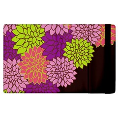 Floral Card Template Bright Colorful Dahlia Flowers Pattern Background Apple Ipad 2 Flip Case by Nexatart