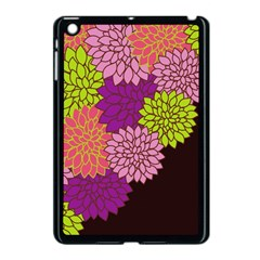 Floral Card Template Bright Colorful Dahlia Flowers Pattern Background Apple Ipad Mini Case (black)